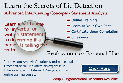 Detecting Deception Using Statement Analysis - Introduction and ...