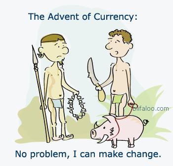 The Advent of Currency Cartoon.