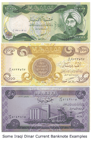 current dinar bills
